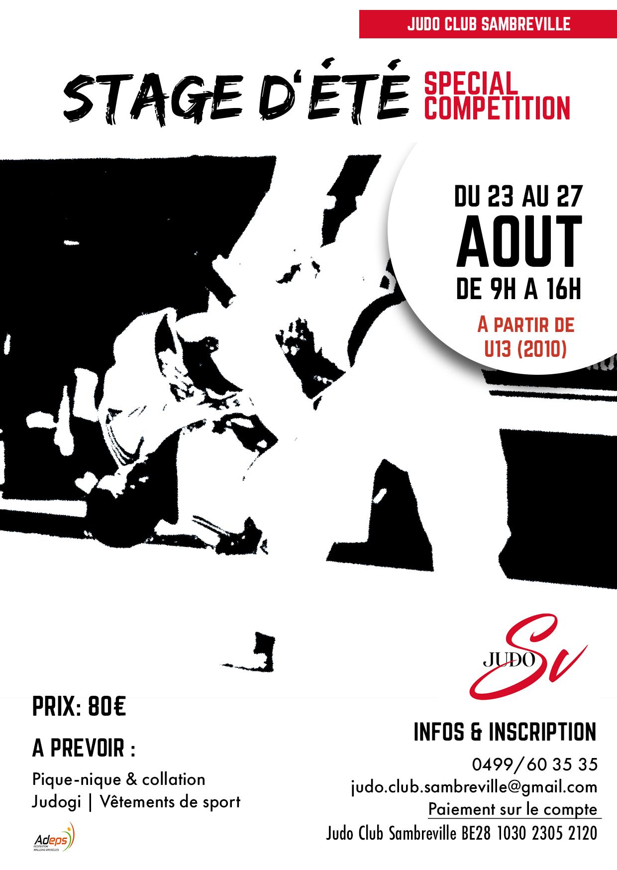 Stage judo à Sambreville
