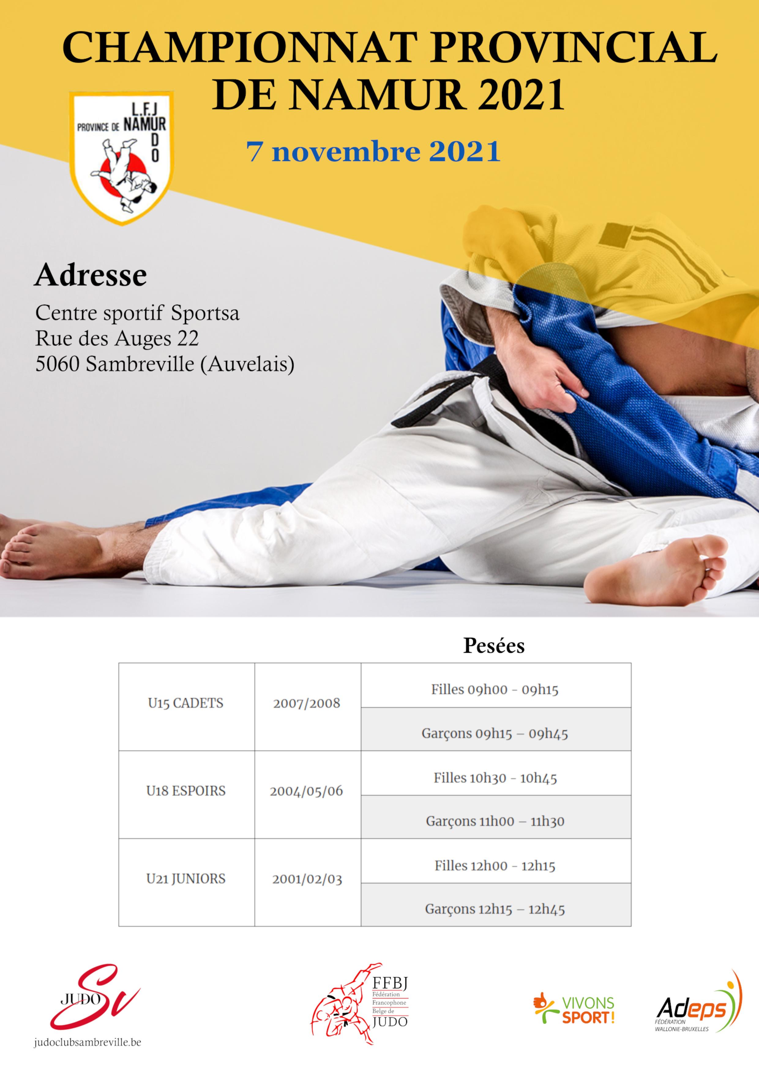 Championnat provincial de Namur 2021